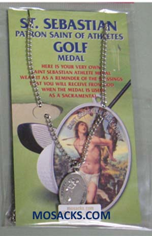 St. Sebastian Sports Pewter Golf Medal 12-650-6046 St. Sebastian Golf Medal 12-650-6046