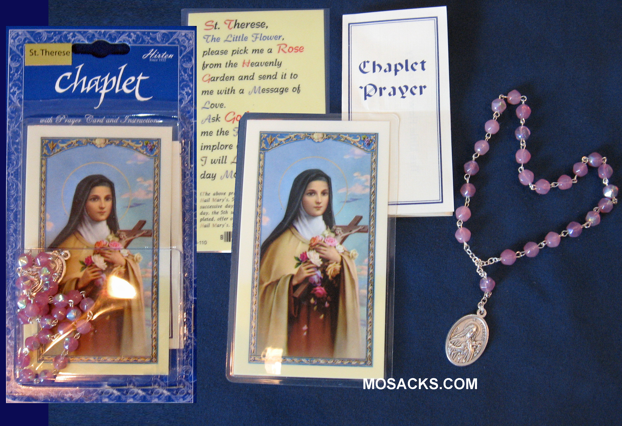 St. Theresa Chaplet and Prayer Card, 094