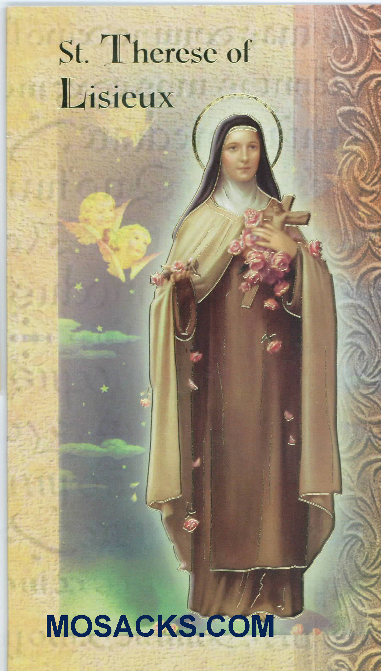 St. Theresa of Lisieux Laminated Bi-fold Holy Card F5-341