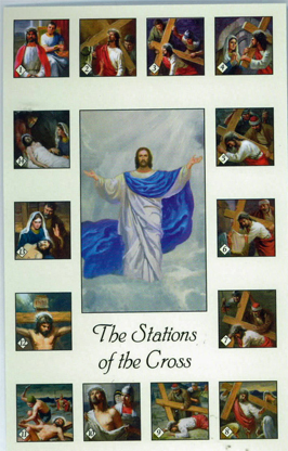 Stations Of The Cross Holy Card of Barton Cotton103-HG262