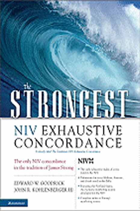 The Stongest NIV Exhaustive Concordance 108-9780310262855