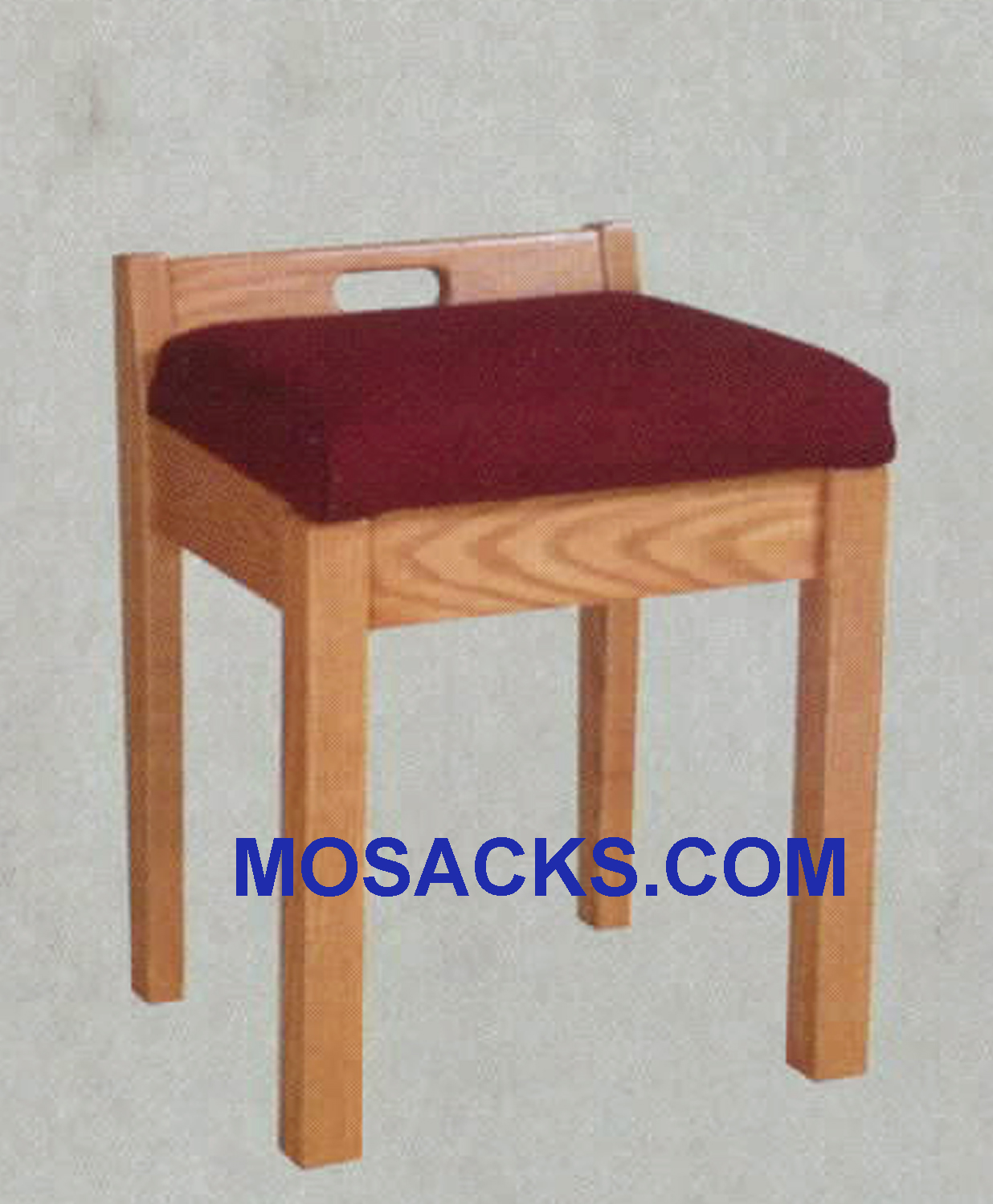 "Stool w/ fixed cushion 18"" w x 17 "" d 20"" h 88"