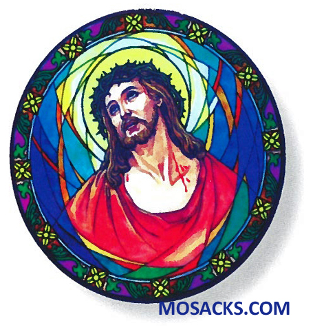 Stained Glass Suncatcher Window Decal Ecce Homo 356-EC