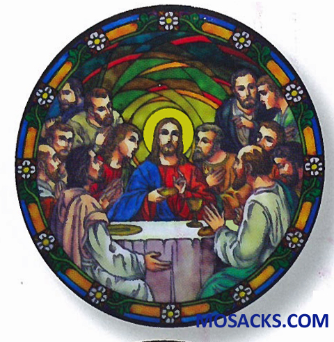 Stained Glass Suncatcher Window Decal Last Supper 356-LS