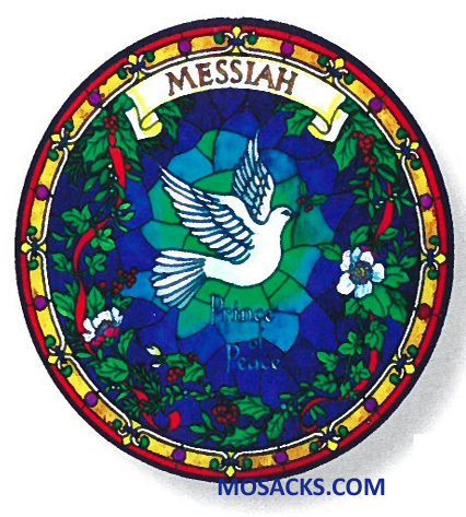 Stained Glass Suncatcher Window Decal Messiah Dove 356-CD