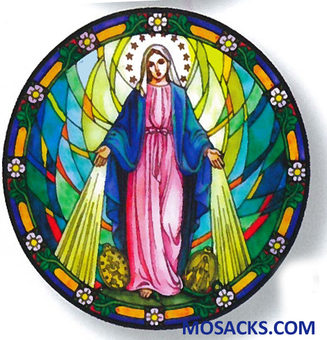 Stained Glass Suncatcher Window Decal Our Lady Of Grace 356-LG