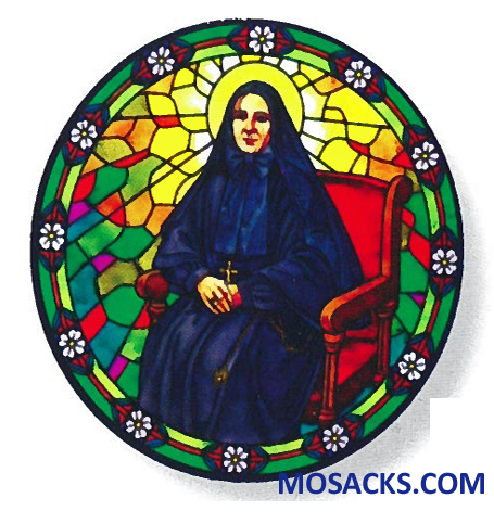 Stained Glass Suncatcher Window Decal St Francis Cabrini 356-FC