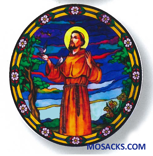 Stained Glass Suncatcher Window Decal St Francis of Assisi 356-FR