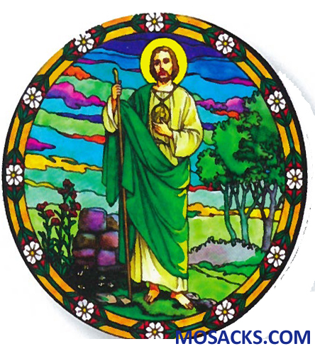 Stained Glass Suncatcher Window Decal St Jude 356-JU