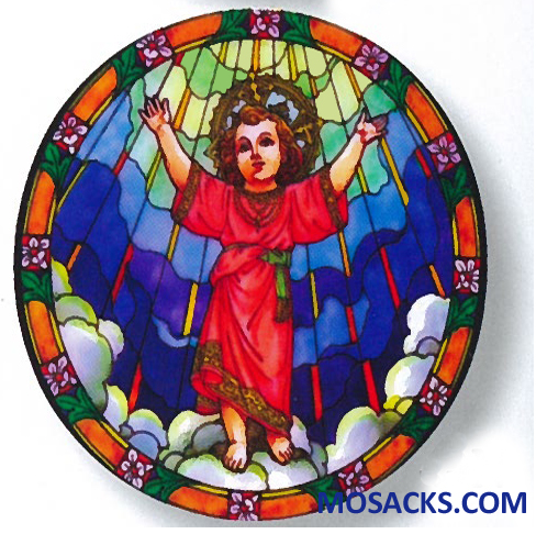 Stained Glass Suncatcher Window Decal Divine Child 356-DN