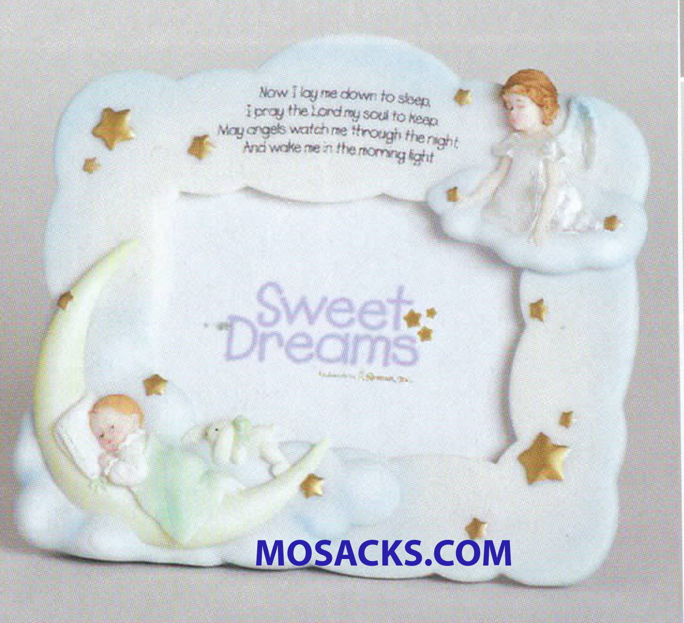 """Sweet Dreams"" Picture Frame of Angel, Baby and Moon - 62127"