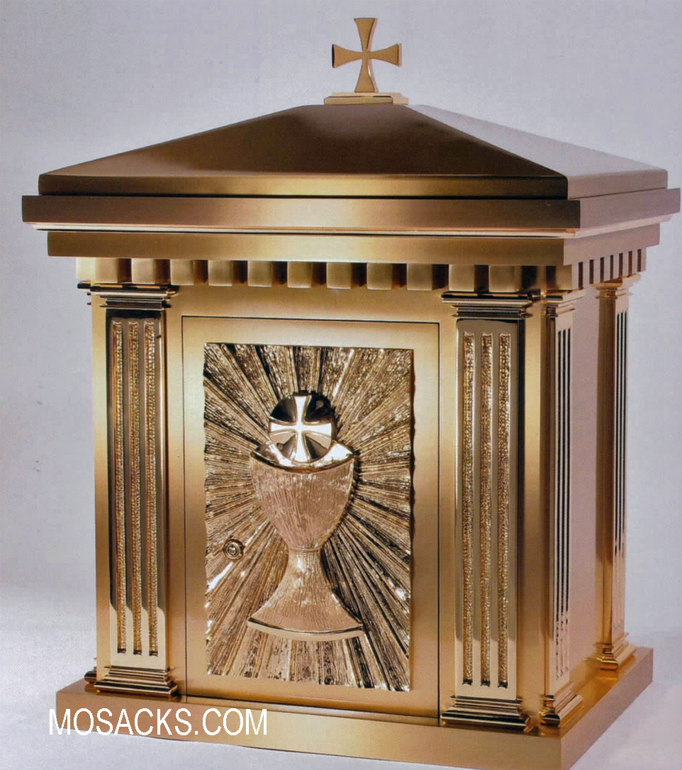 Bronze Tabernacle with Chalice Motif 10TAB10