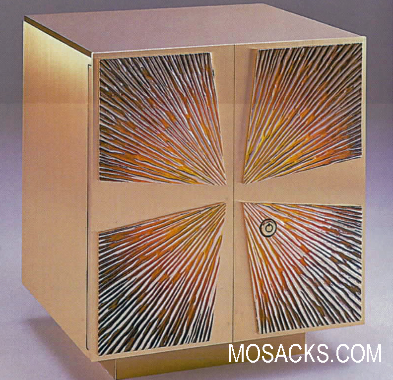 Bronze Tabernacle with Cross & Enameled Sunburst Motif 26TAB32