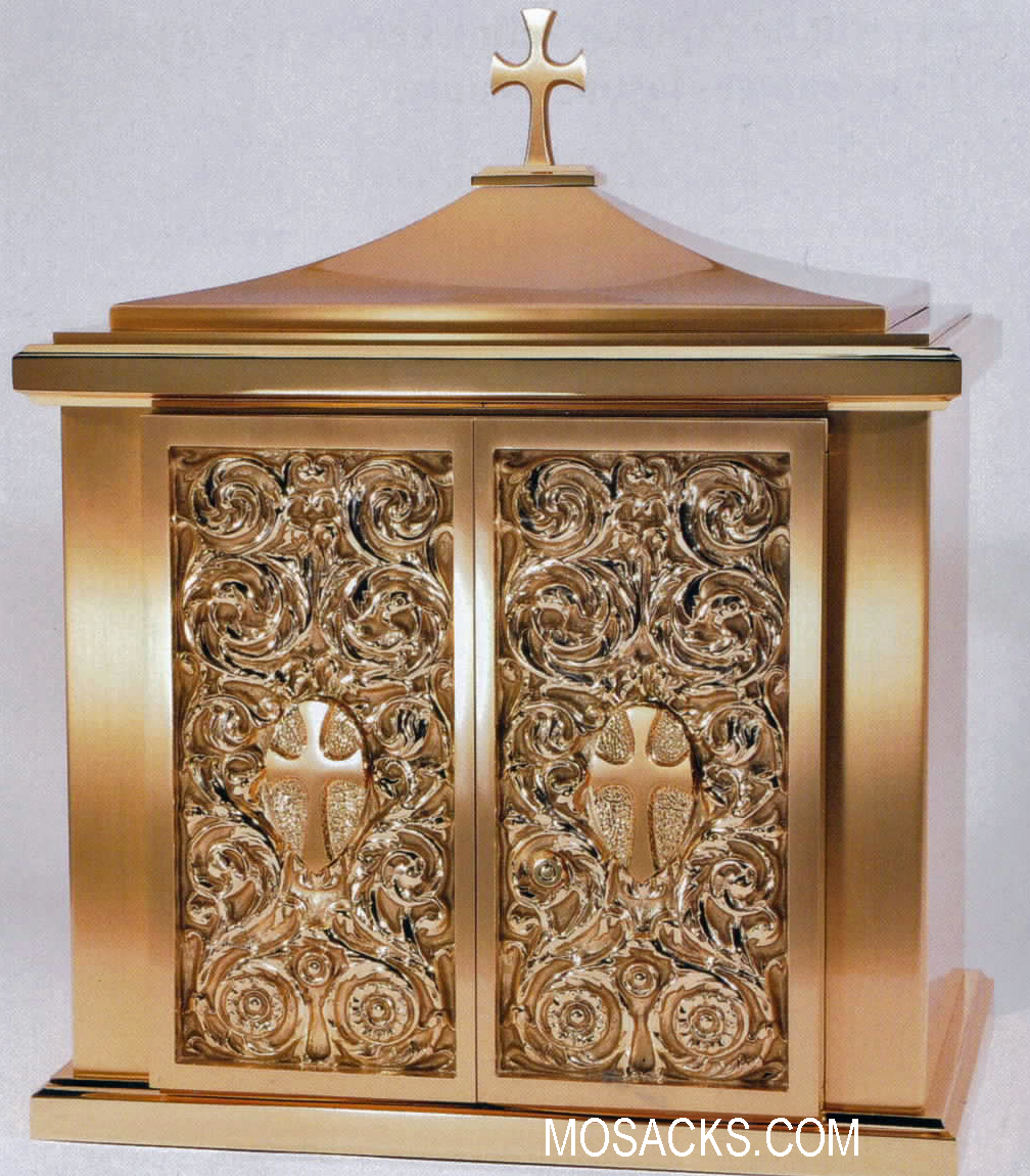 Bronze Tabernacle with Cross Finial 10TAB22
