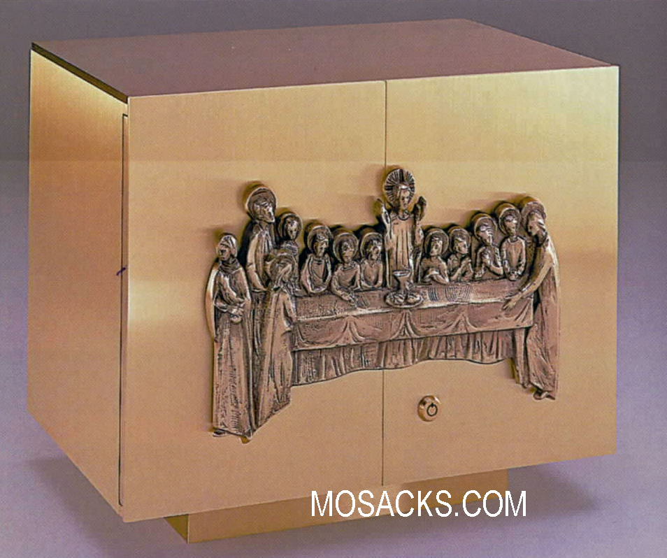 Bronze Tabernacle with Last Supper Motif 97TAB12