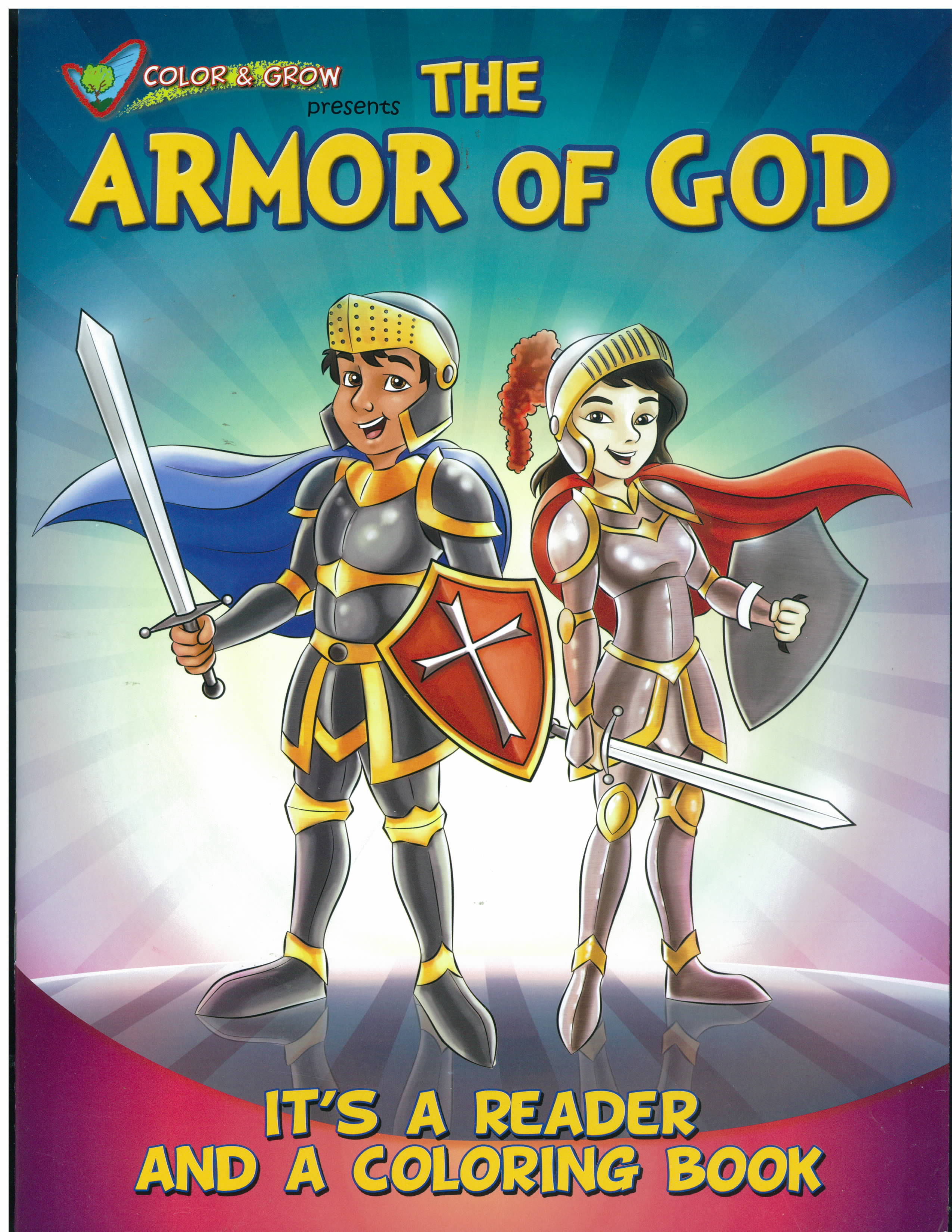 The Armor of God Color and Grow Book -CAG-ARM is a St. Paul Coloring Book and St. Paul Story Book.