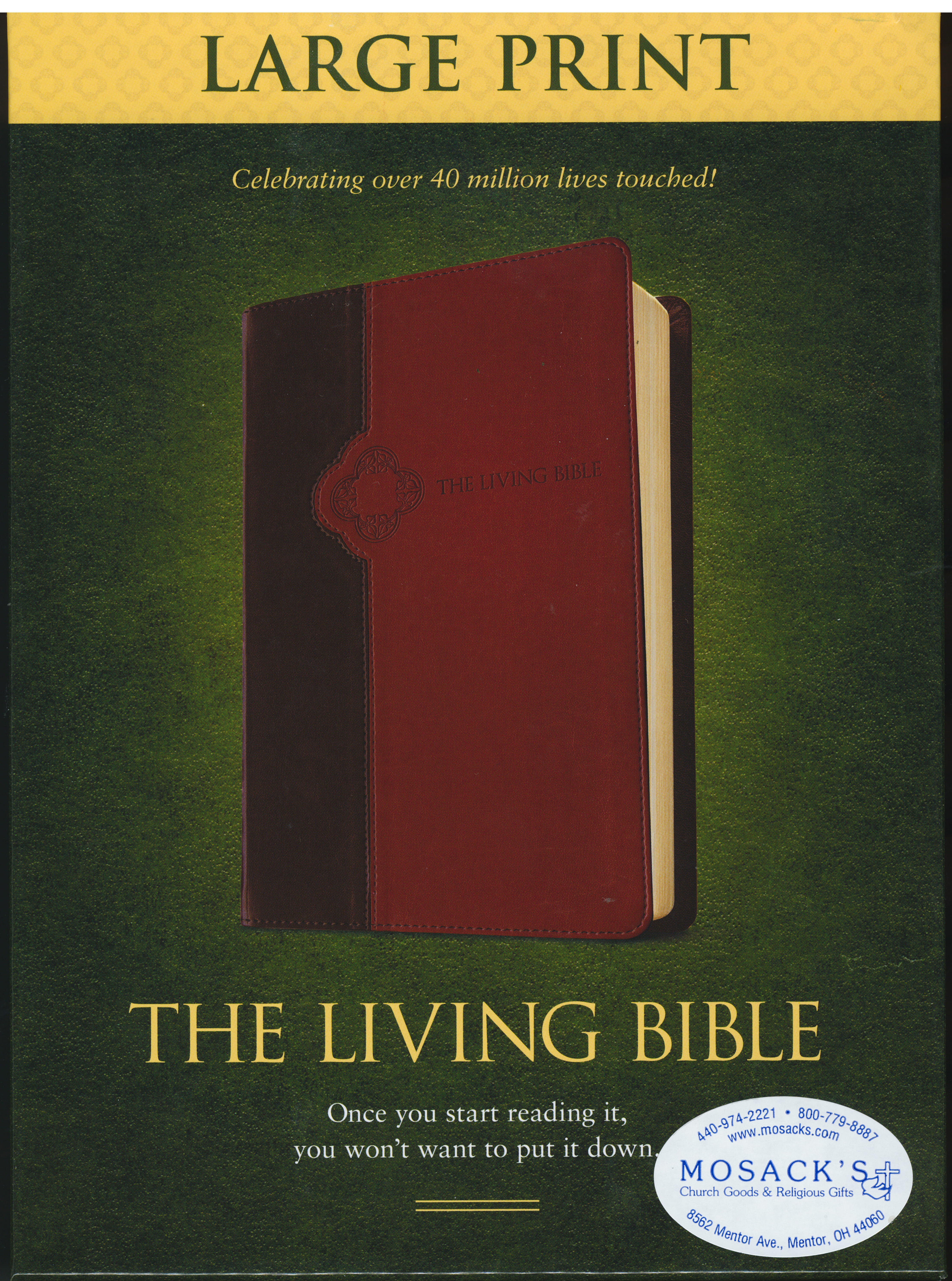 The Living Bible Large Print from Tyndale Publishing 108-9781414378589