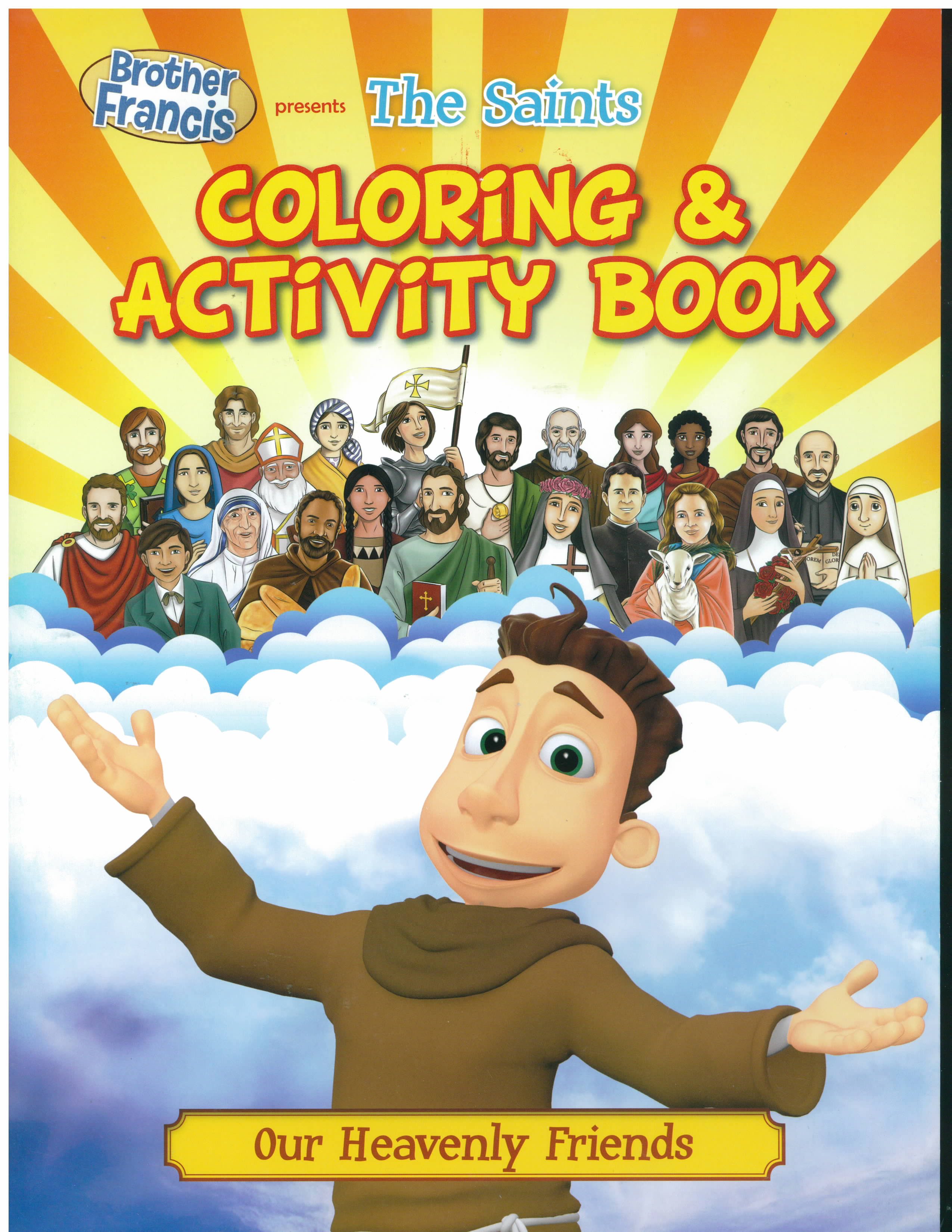 The Saints Coloring and Activity Book-BF08-CB