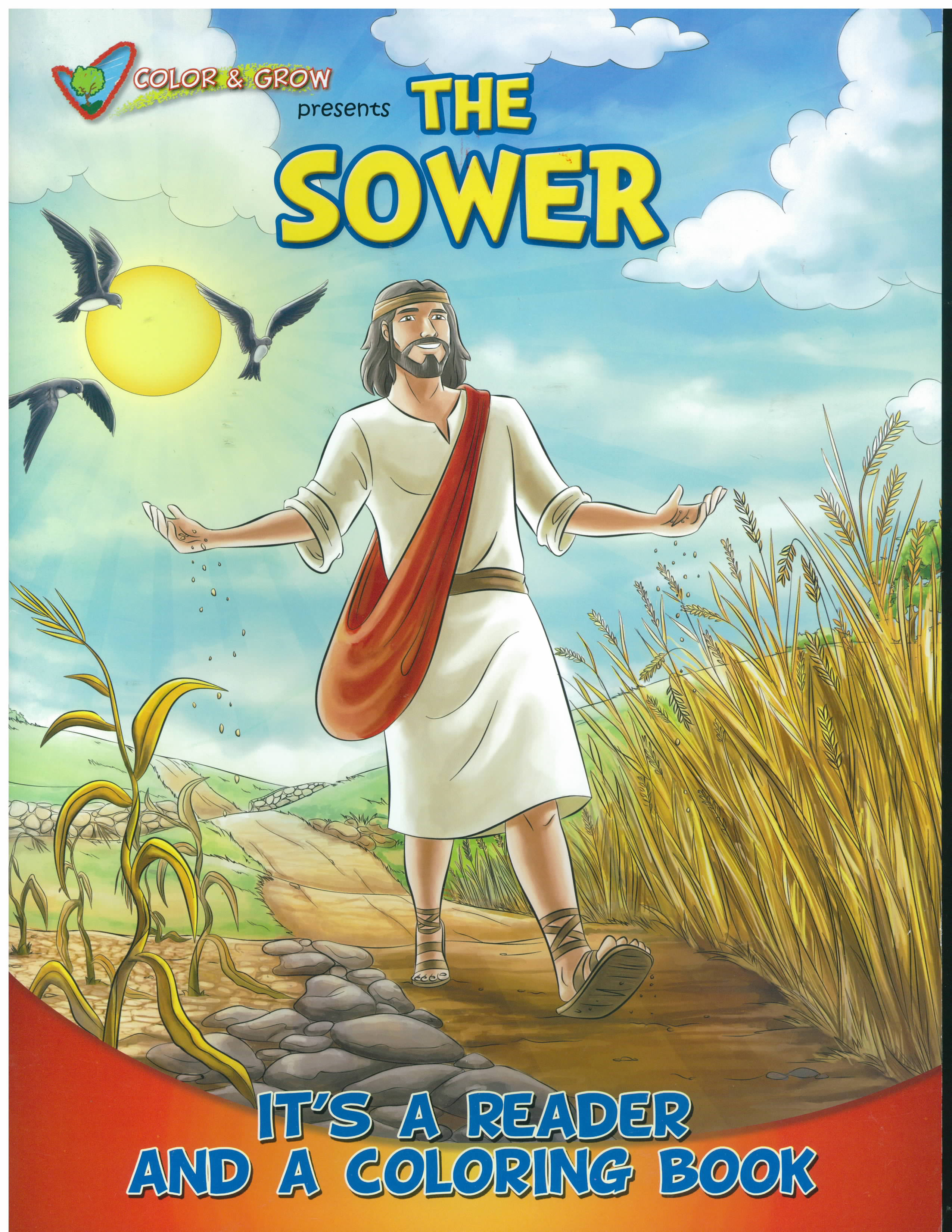 The Sower Color And Grow Coloring and Story Book-CAG-SOW
