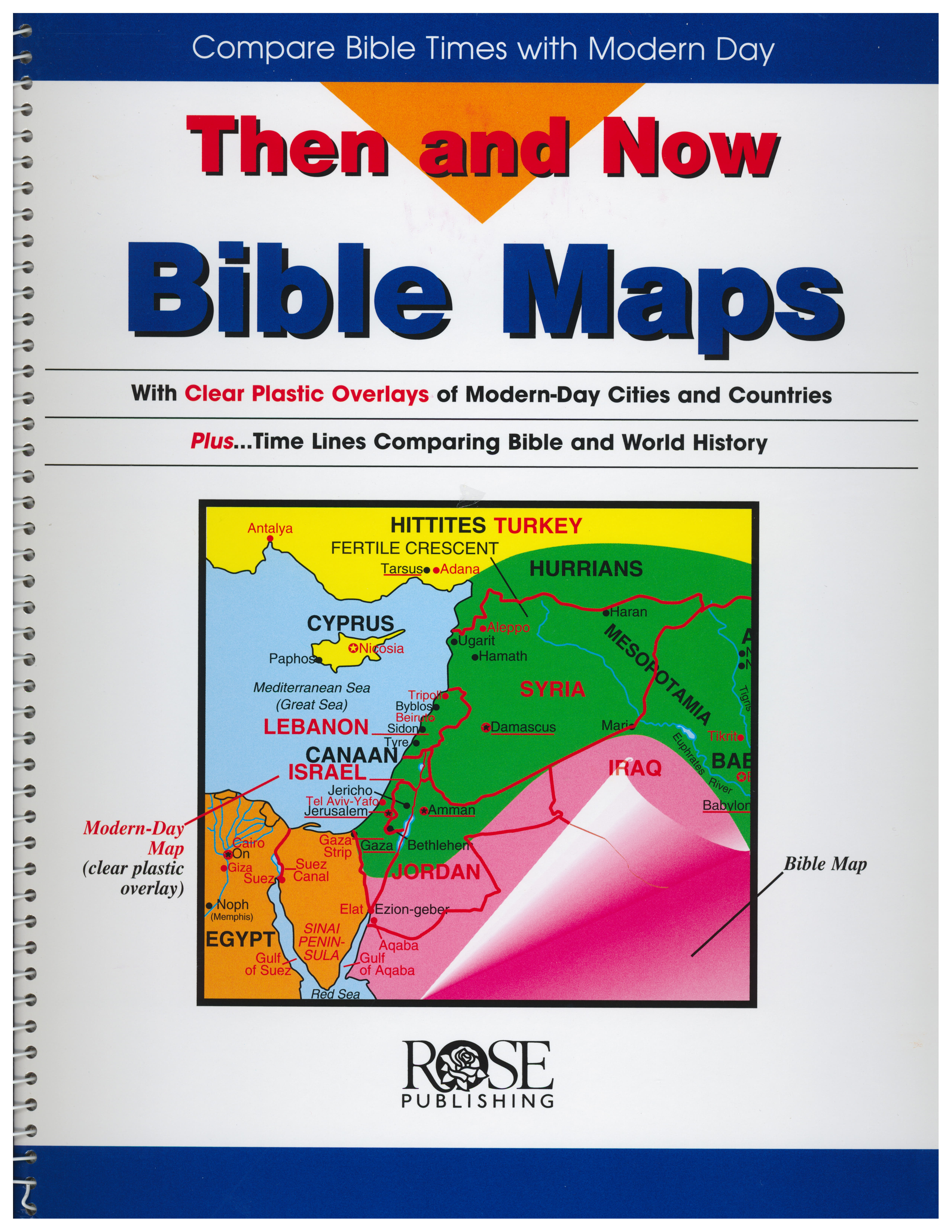 Then and Now Bible Maps from Rose Publishing 108-9780965508209