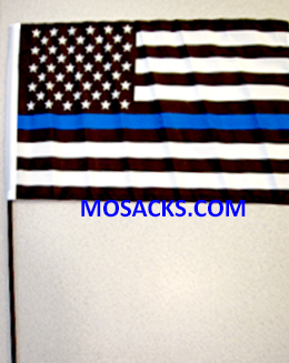 Thin Blue Line American Flag 12 x 18 Inches Garden Flag