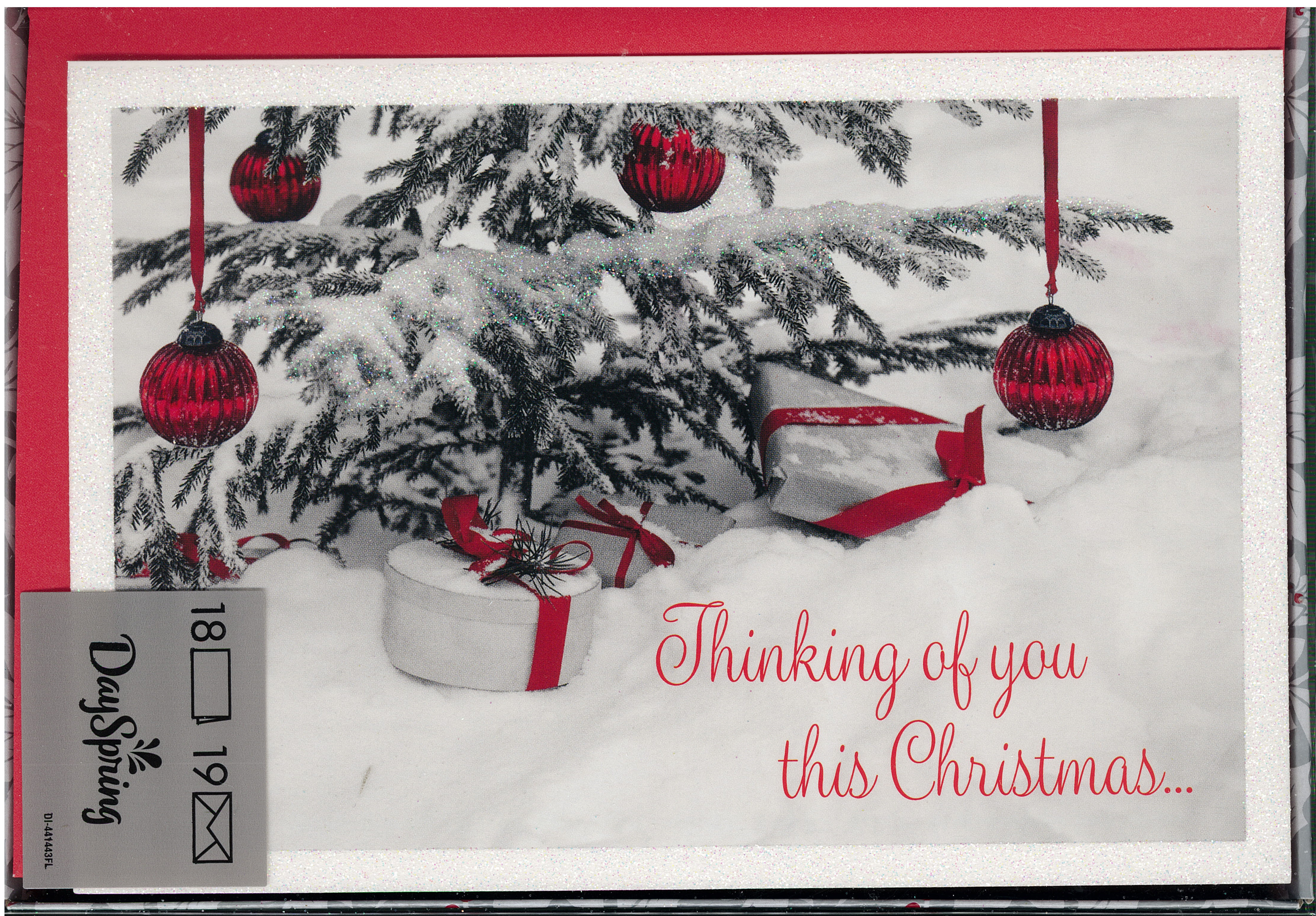 Thinking of You Boxed Christmas Cards 217-J3377 includes 18 cards and envelopes