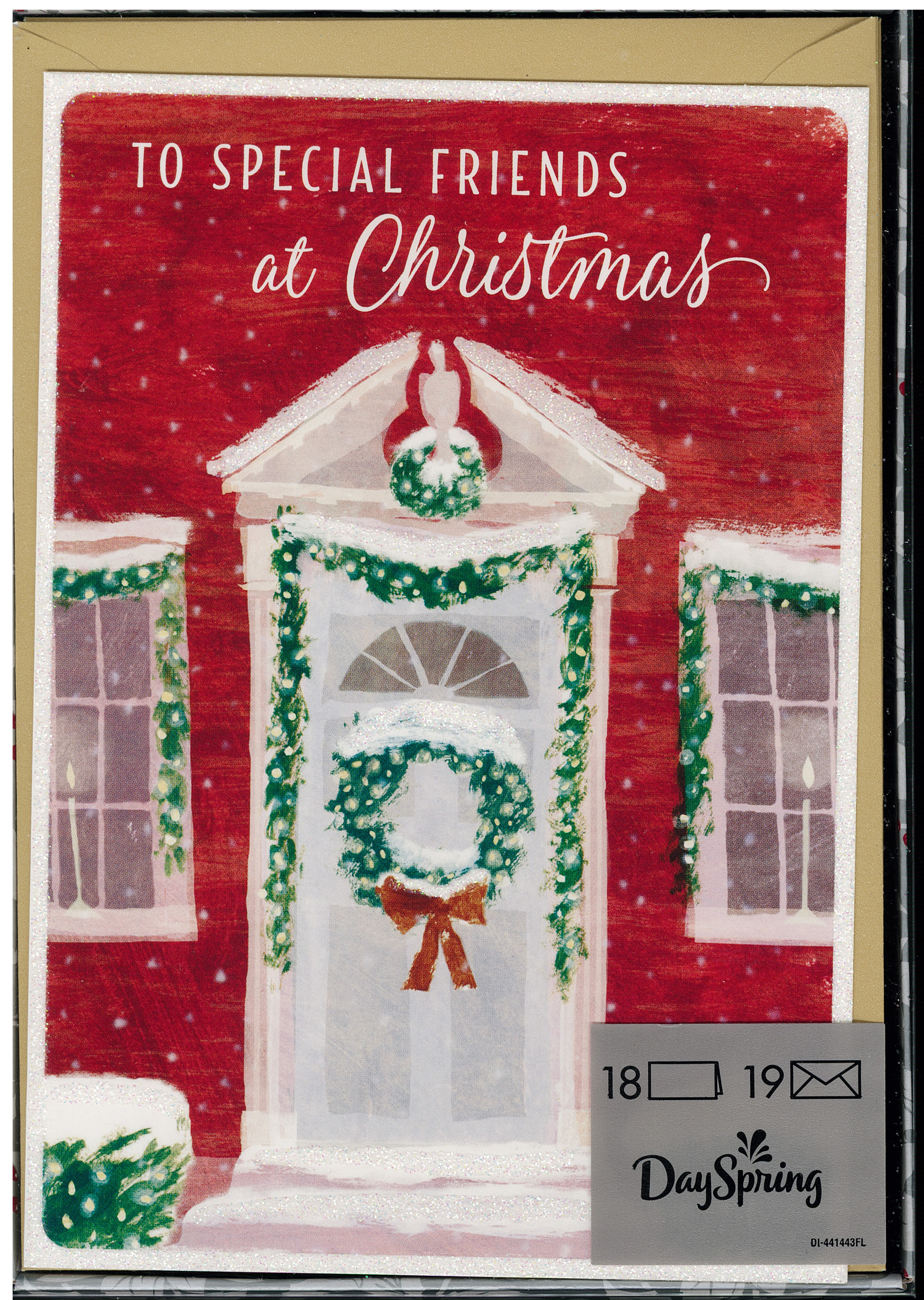To Special Friends Boxed Christmas Cards 217-J3375 includes 18 cards and envelopes