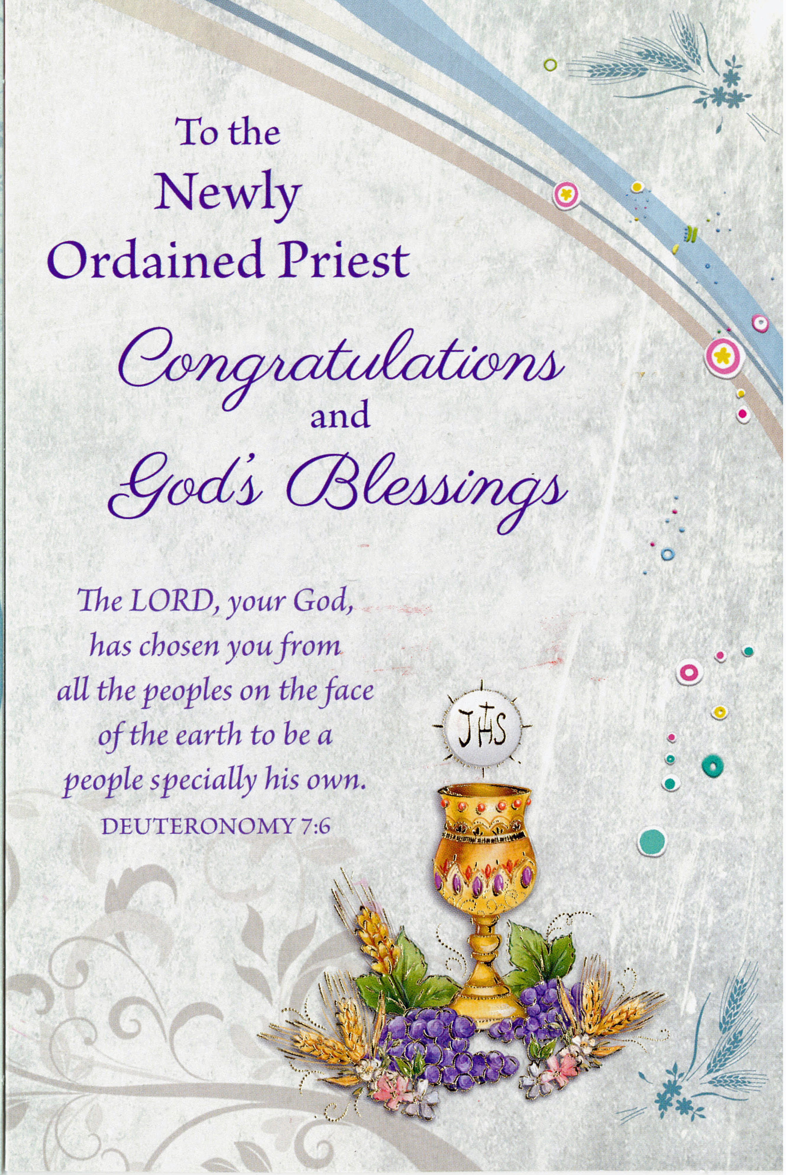 To The Newly Ordained Priest 238-ORD89990