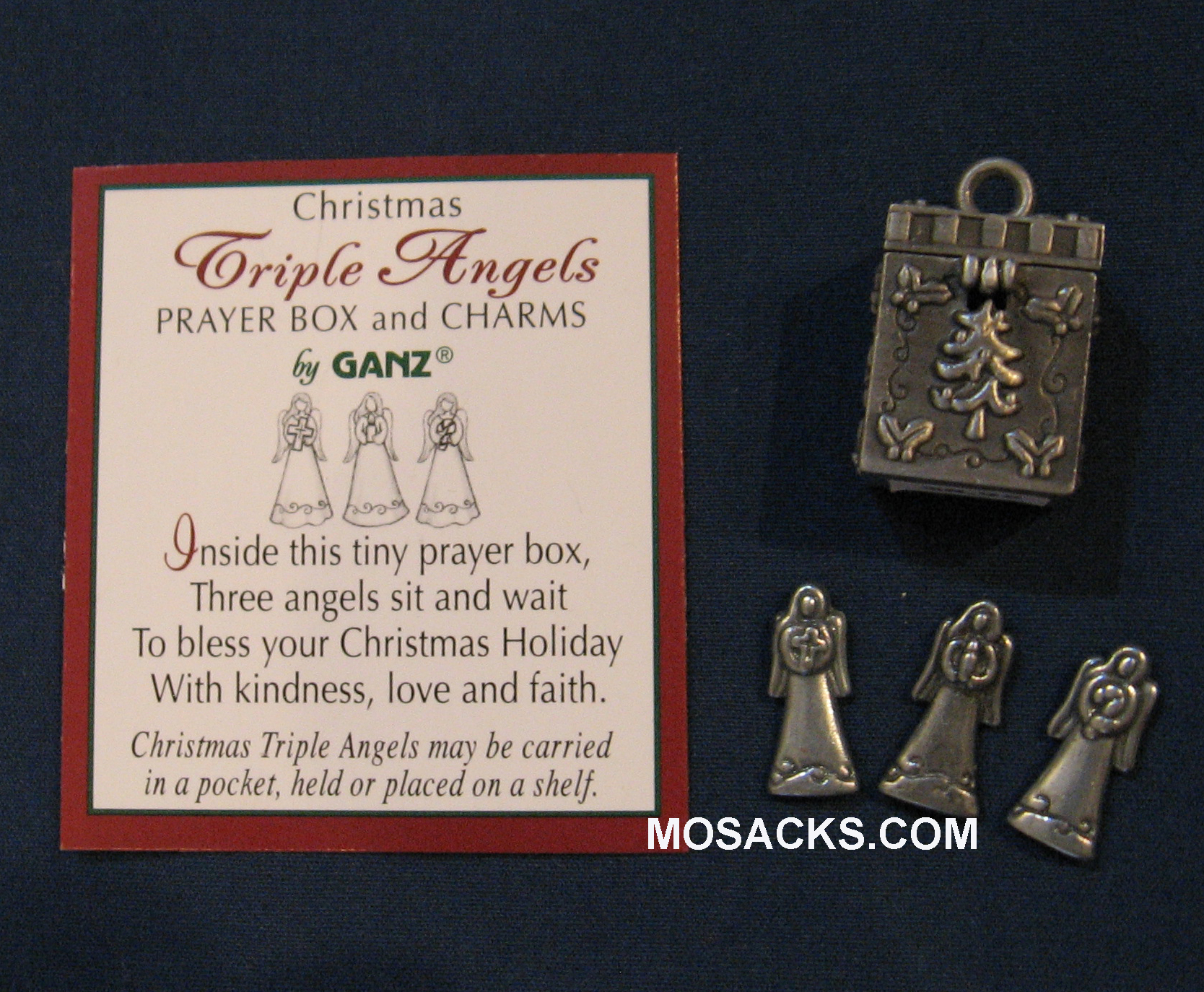 Triple Angels Prayer Box Charm and Card-EX13341