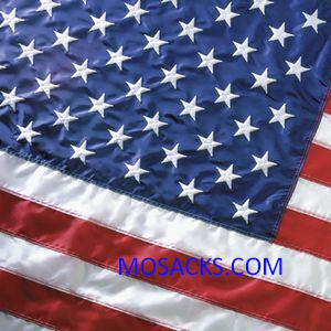 Flags U.S. Printed Perma Nylon 3 ft x 5 ft -35211000-PH with pole hem