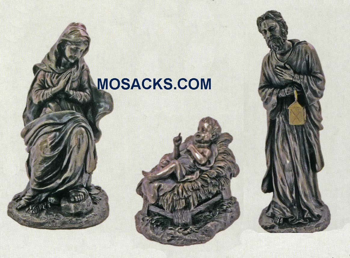 3-Piece Holy Family Set Veronese Bronze SR-NATY-BRZ-HF