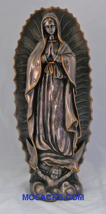 "Our Lady of Guadalupe Veronese Bronze Statue 19"", SRA-GUAD19"