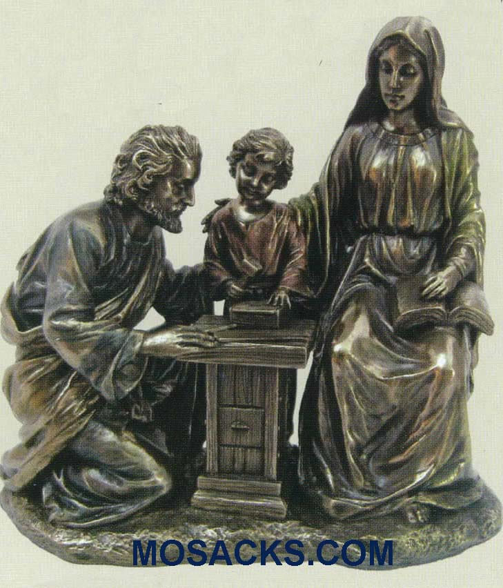 "Holy Family at the Work Bench Veronese Bronze, 8"", SR-75347"