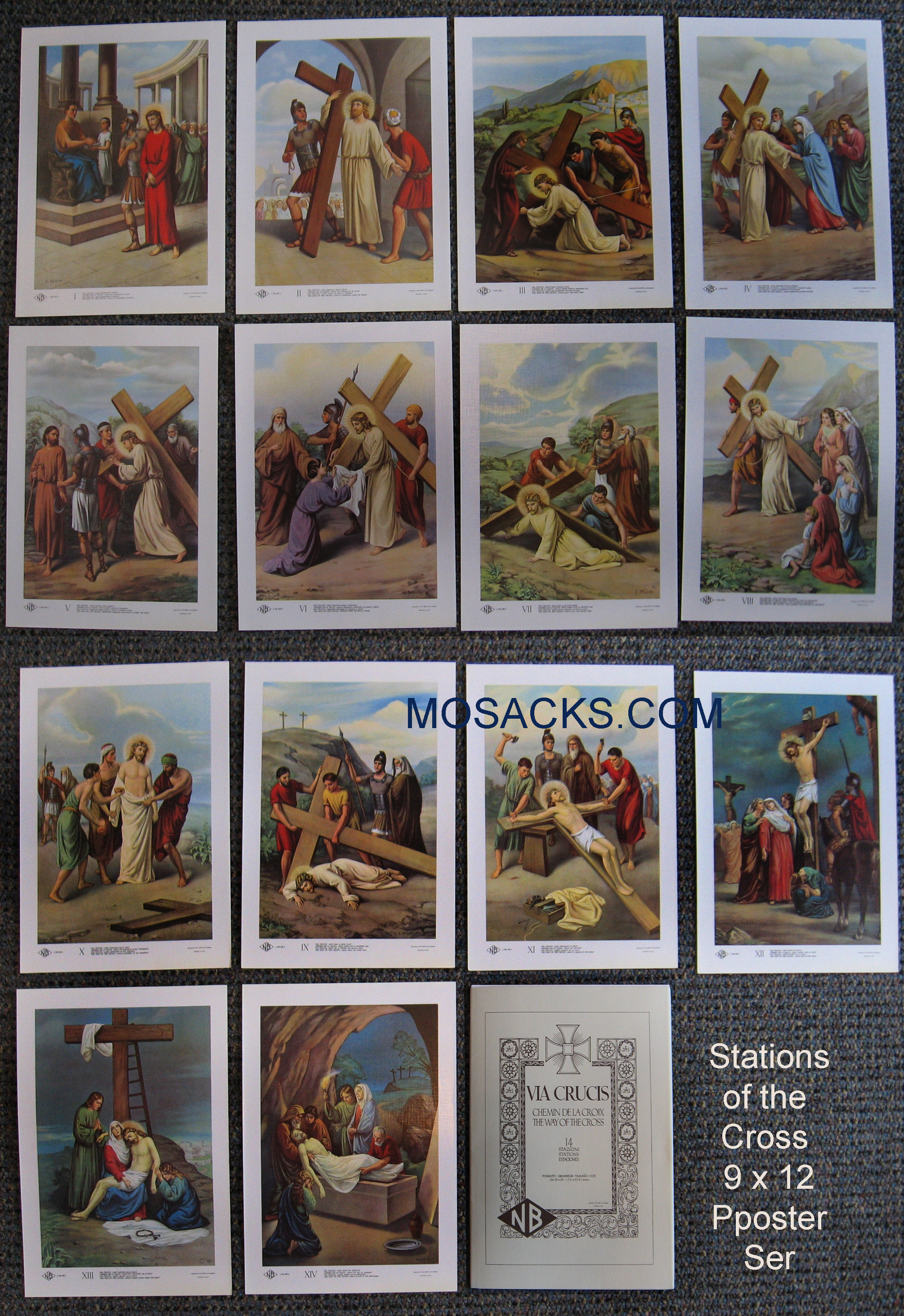 Via Crucis Stations Of The Cross 9x12 Inch Poster Set - 7777