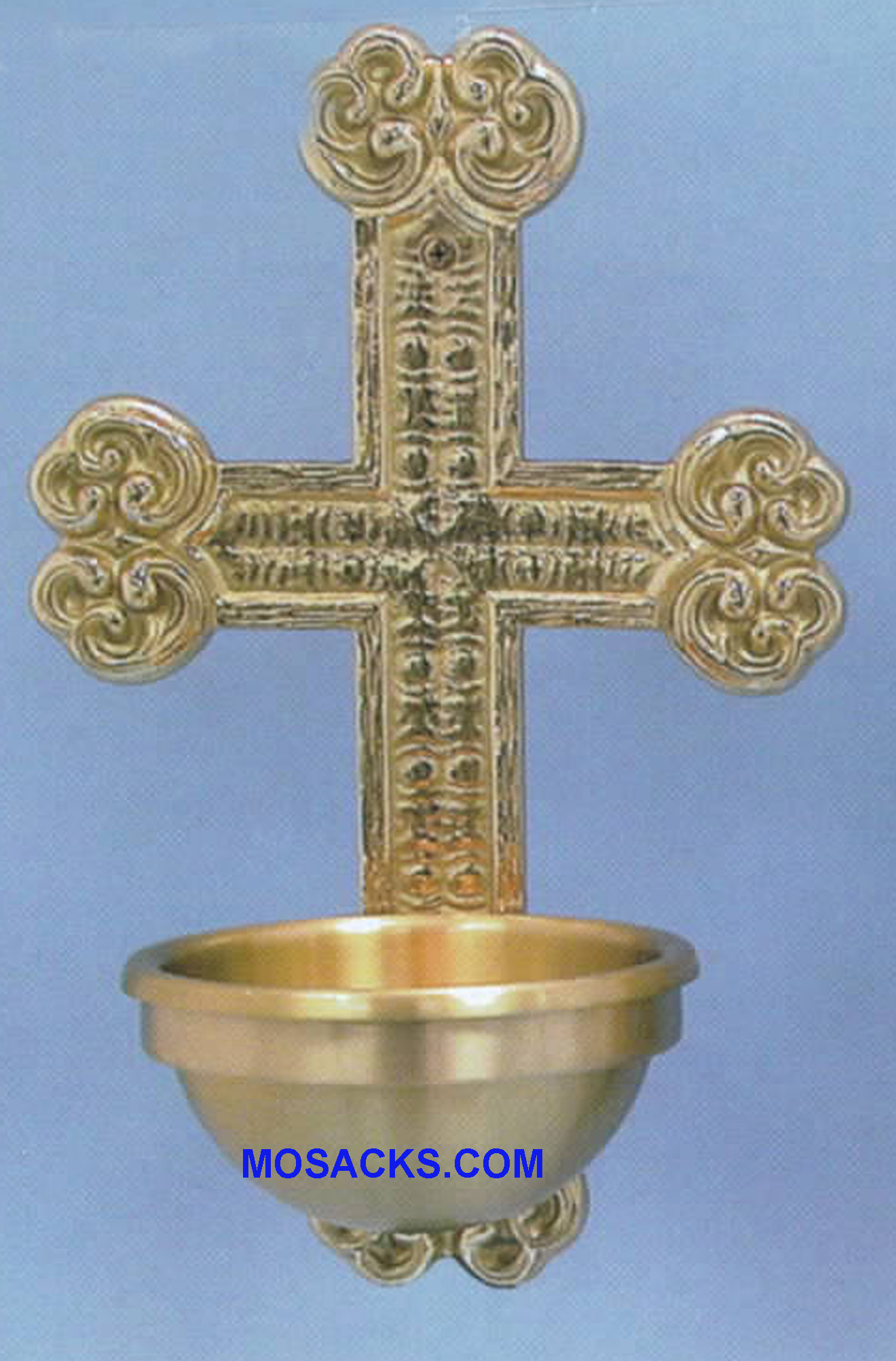 Bronze Holy Water Font Cross 97HWF25