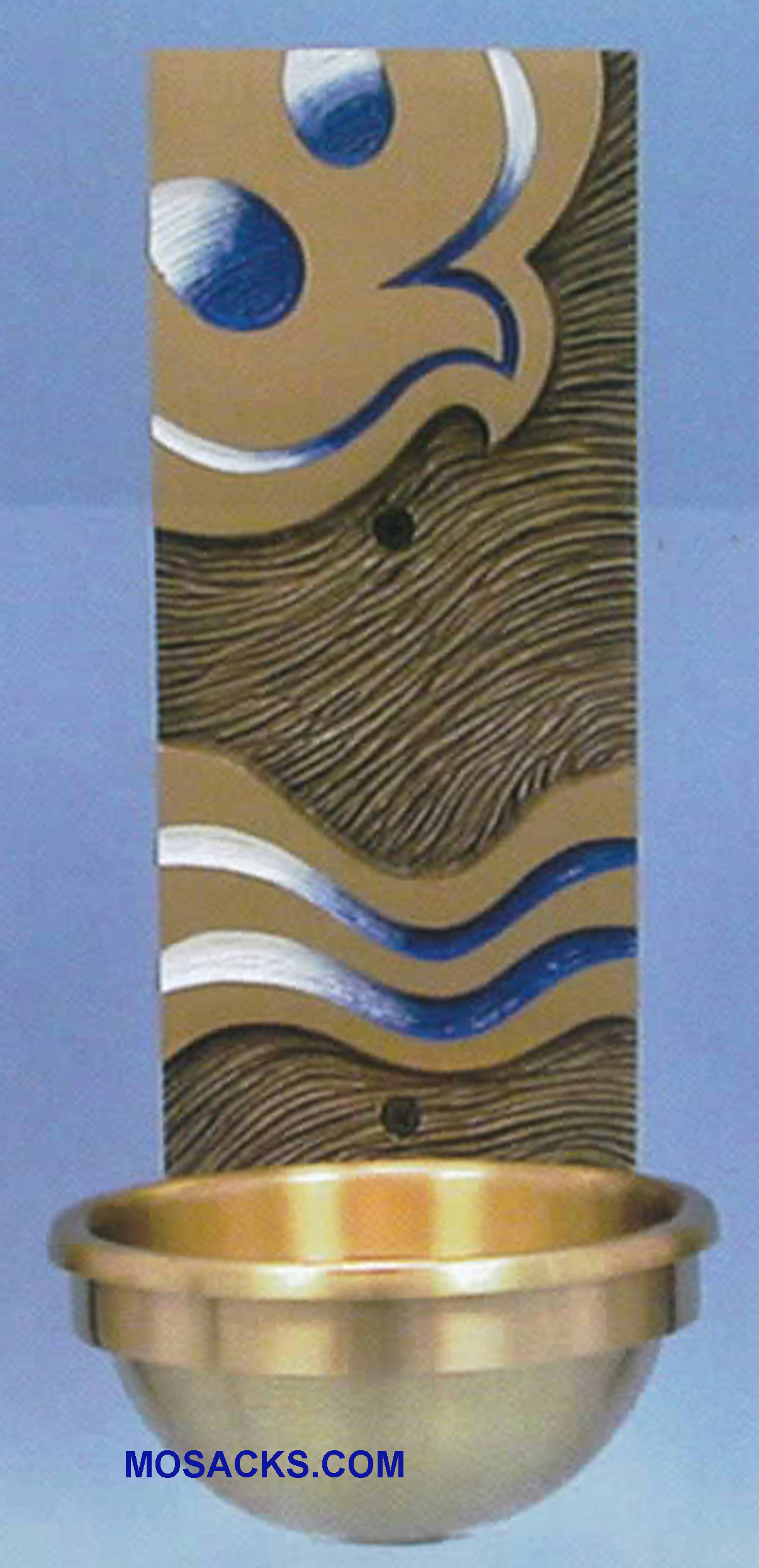 Bronze Holy Water Font Holy Spirit w/Water 81HWF44