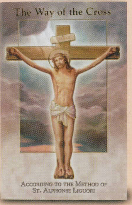 The Way Of The Cross Booklet by St. Alphonse Liguori 12-SC-01 with famous Vincentini Stations of the Cross