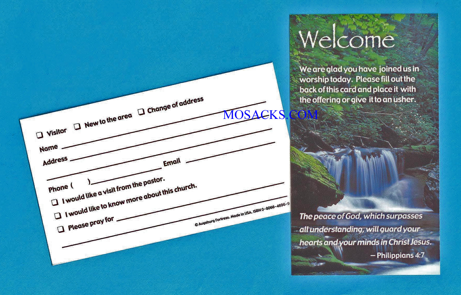 "Welcome Card 3"" x 5"", 100 Count"