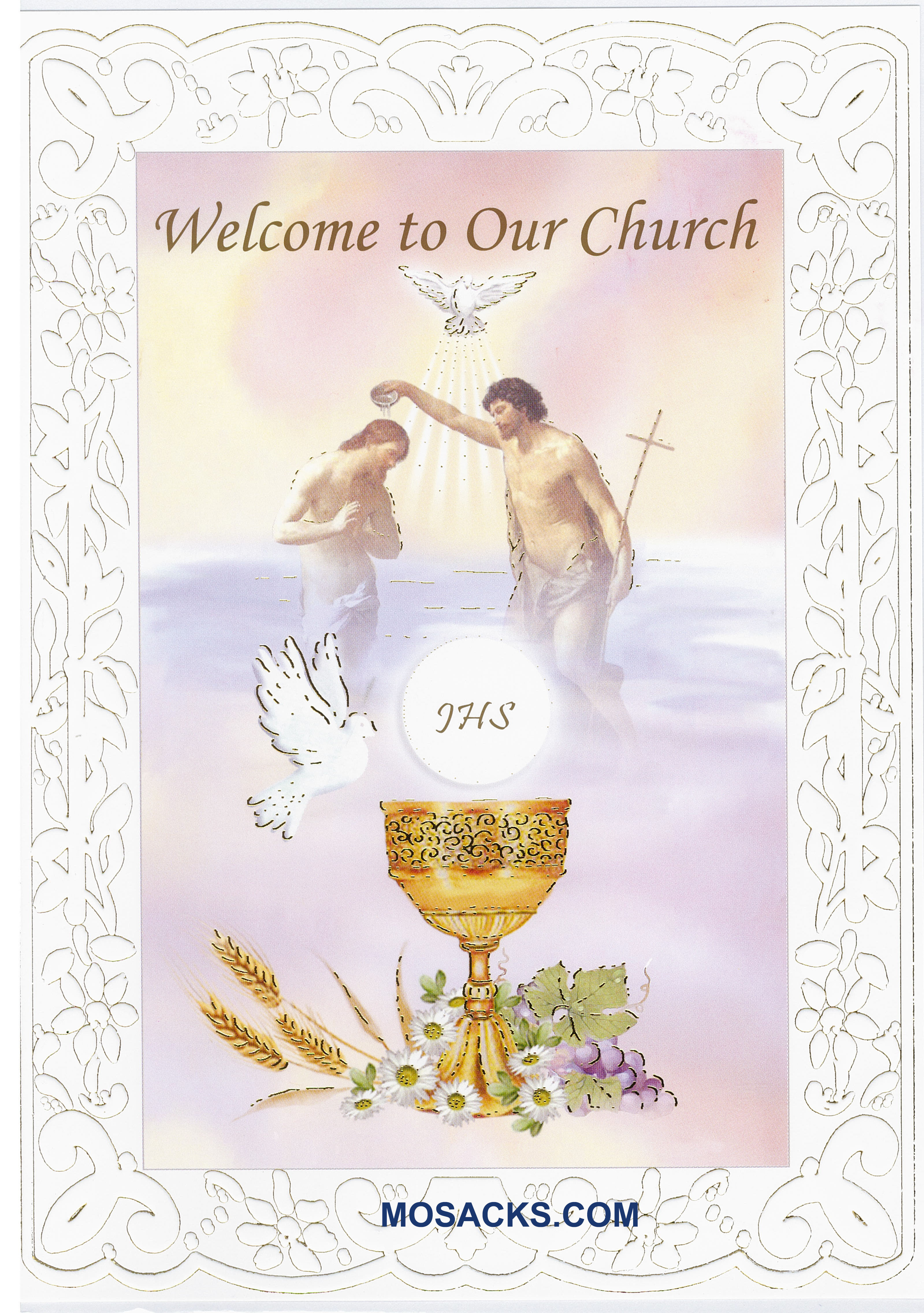 Welcome To Our Church RCIA Greeting Card 11-3283