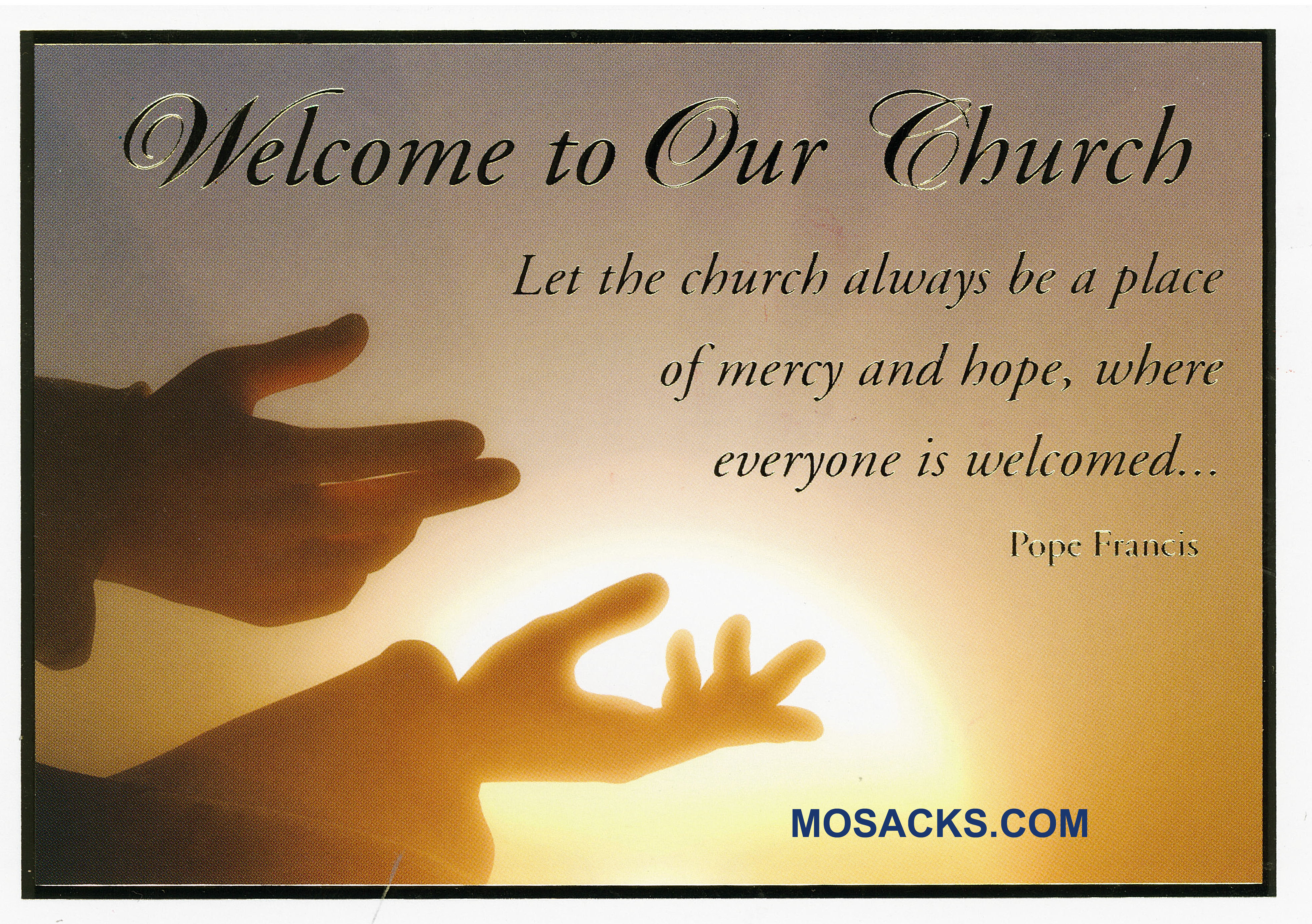 Welcome To Our Church RCIA Card - MA-646