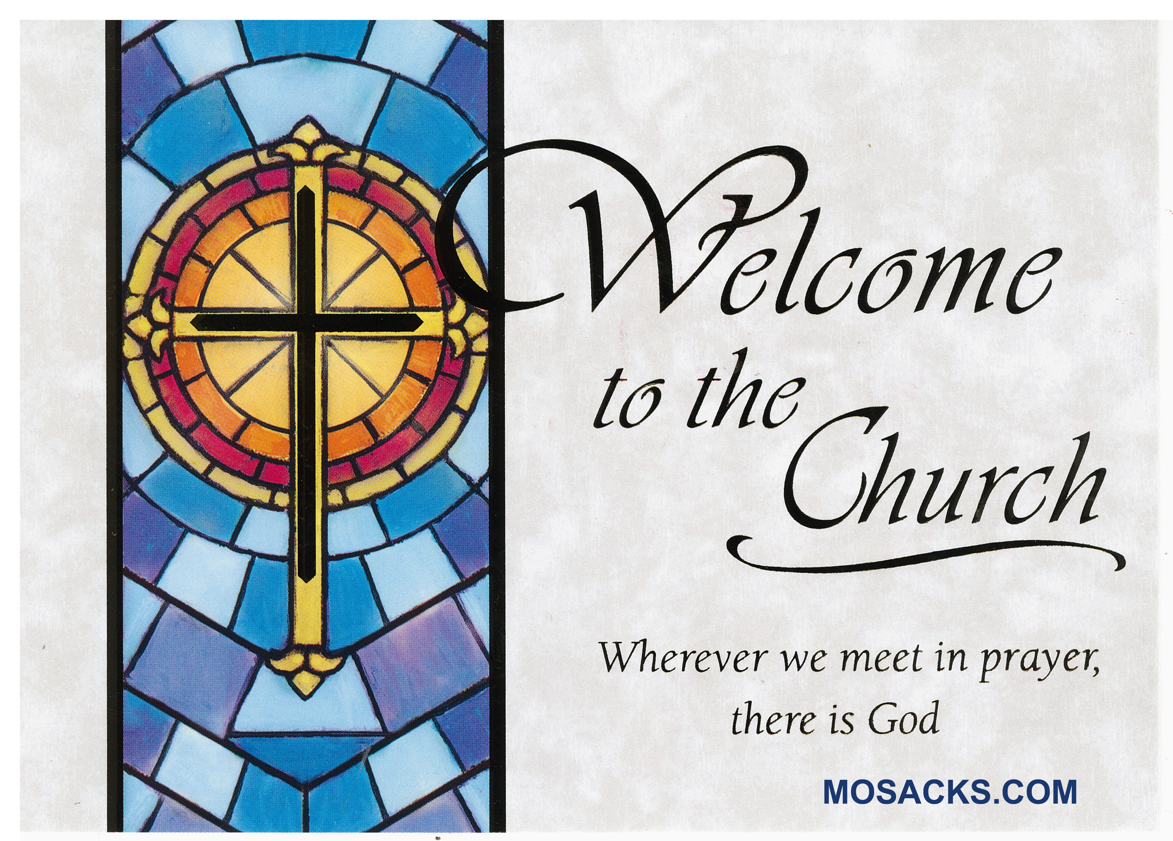 Welcome To The Church card-MA-980 a RCIA Greeting Card