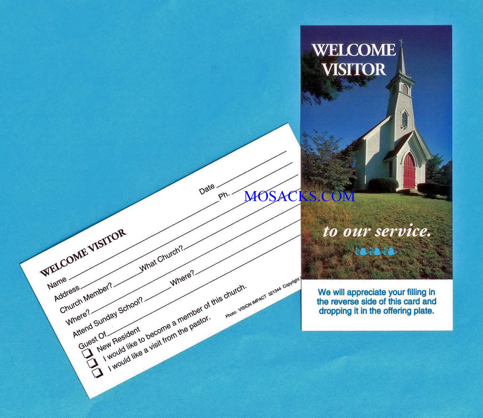 "Welcome Visitor Card 3"" x 5"", 25 Count"