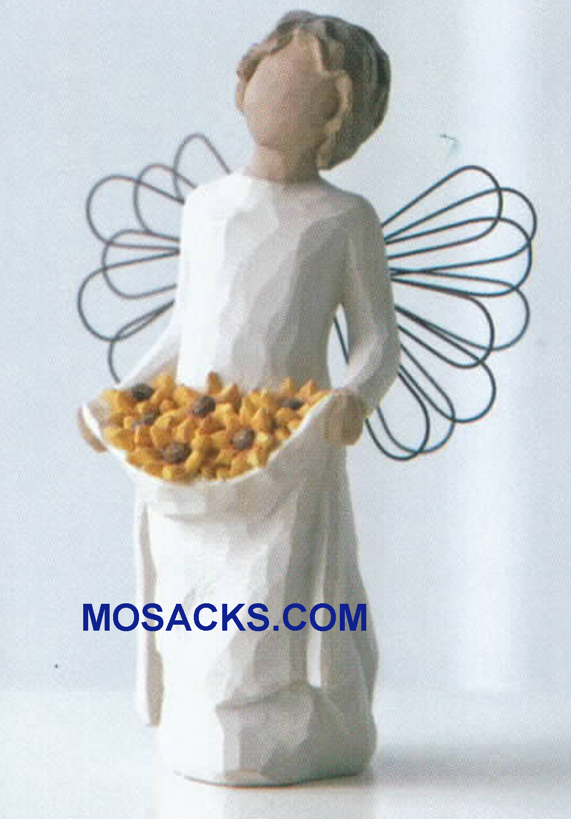 "Willow Tree Angels Sunshine Friendship brings the sun..and flowers bloom! 5.5"" H 26249 Willow Tree Angel of Friendship"