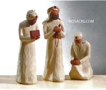 Willow Tree® Nativity - The Three Wise Men for the Nativity #26027 They followed a star and found the Light of the World