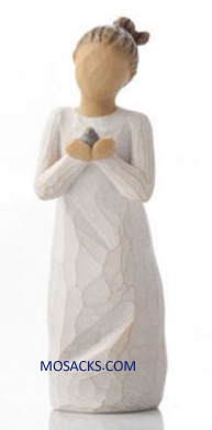 "Willow Tree Figurine Nuture by Susan Lordi 5.5"" h 27560 with Setiment: Protecting that which we love"