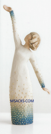 "Willow Tree Figurine Shine by Susan Lordi 8"" h 27367 with sentiment:You have a radiant inner light."