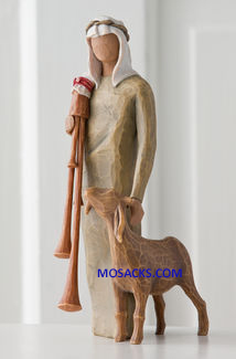 Willow Tree Nativity Zampognaro Shepherd with bagpipe 27183