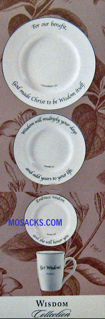 "Feed on the Word ""Wisdom"" Scripture Tableware 5-Piece Place Setting #5-110-P"