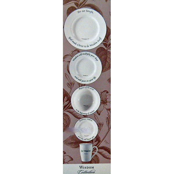 "Feed on the Word ""Widsom"" Scripture Tableware 5-Piece Place Setting #5-110"