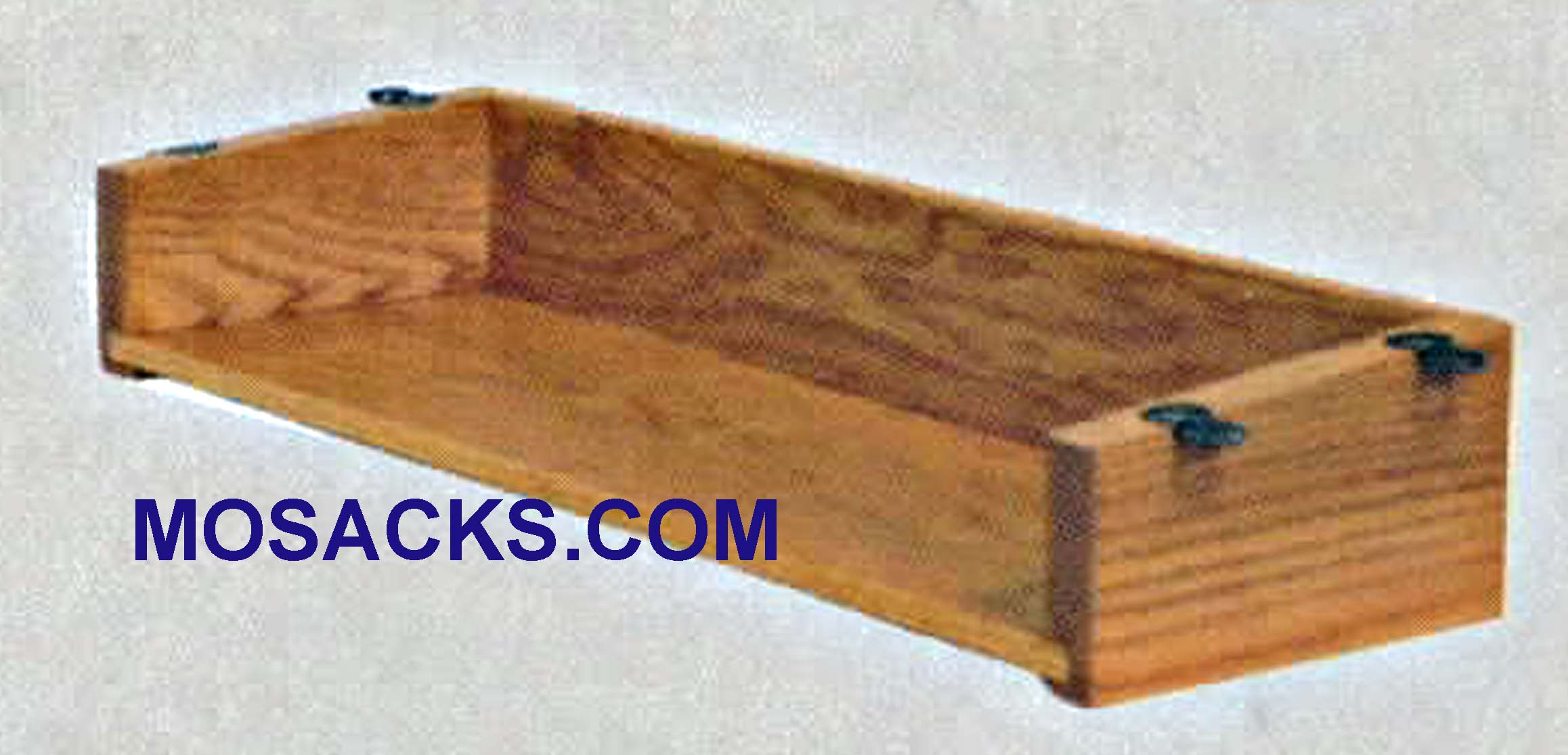 "Wood Underseat Book Rack #258 Pew Accessory Interior 18"" w x 6-5/8"" d x 2-1/4"" h is a wood book rack for under the pew seat  FREE SHIPPING on $100 Order  Various Wood Finishes at Mosack's Church Furniture"